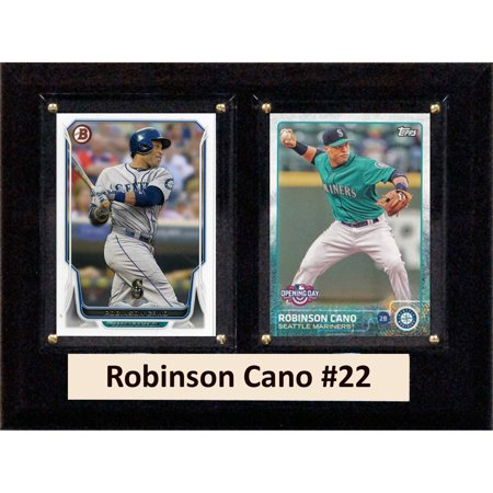 C&I Collectables MLB 6x8 Robinson Cano Seattle Mariners 2-Card Plaque