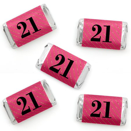 Finally 21 Girl - Mini Candy Bar Wrapper Stickers - 21st Birthday Party Small Favors - 40 Count](21st Birthday Halloween Party Ideas)