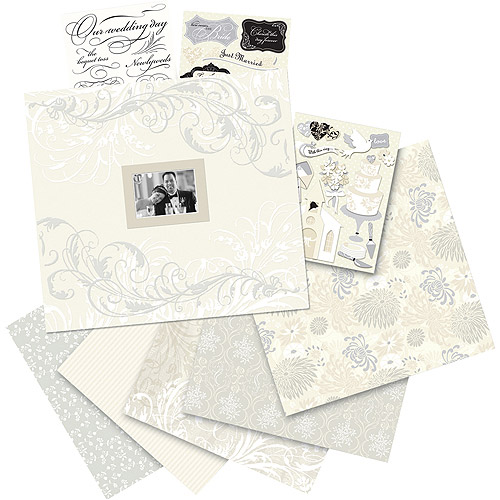 "K&Company Postbound Scrapbook Kit Boxed, 12"" x 12"", Classic Wedding"