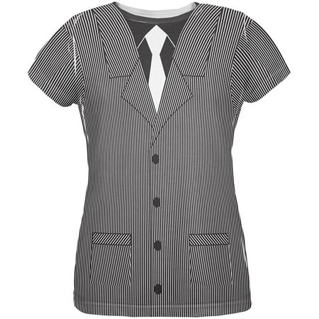 Halloween 20's Gangster Costume All Over Womens T Shirt - Gangster Halloween Costumes For Women