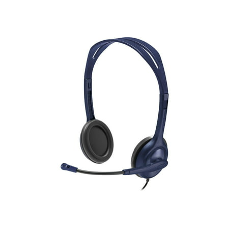 Voip Stereo Microphone Mic Headset - Logitech Wired 3.5mm Stereo Headset With Microphone Blue