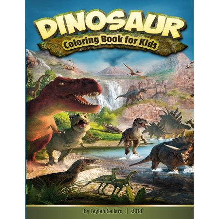 Dinosaur Coloring Book for Kids : Fantastic Dinosaur Coloring Book for Kids 3-8, with 50 Different Kinds of Dinosaurs to Draw, and for Toddlers, Preschoolers, Boys, Girls Early Leaning (Dinosaur Books) (Halloween Projects For Toddlers And Preschoolers)