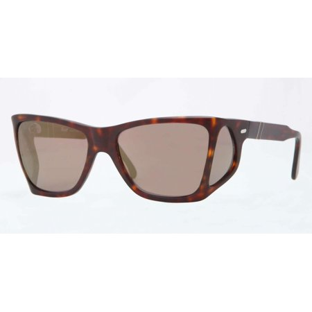 Persol Mens PO0009 899/O3 Havana Plastic Irregular Sunglasses