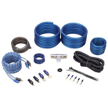 Rockville RWK41 4-Gauge Complete Car Amp Wiring Installation Wire Kit with RCA