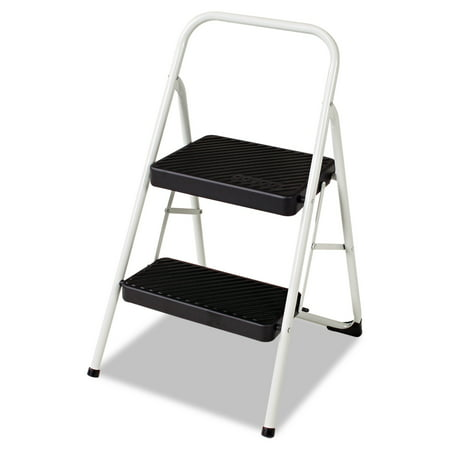 Cosco 2-Step Folding Steel Step Stool, 200lbs, Cool Gray