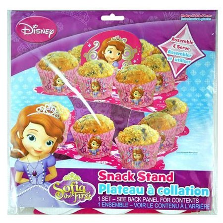 Disney Princess Sofia the First 2 Tier Cupcake Stand - Tiered Snack, Treat Stand, Birthday Party, Centerpiece,