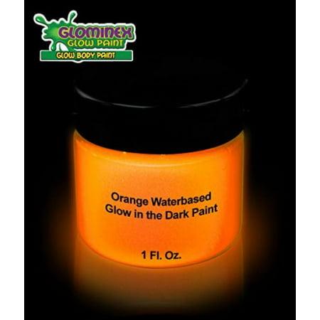 lueur dans le noir Visage et Corps Peinture 1 oz Jar - orange