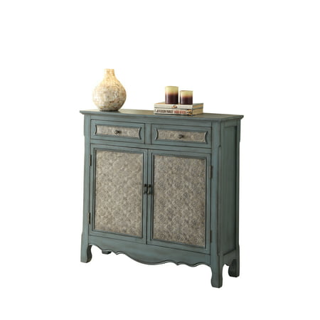 Blue Console - ACME Wren Console Table, Antique Blue