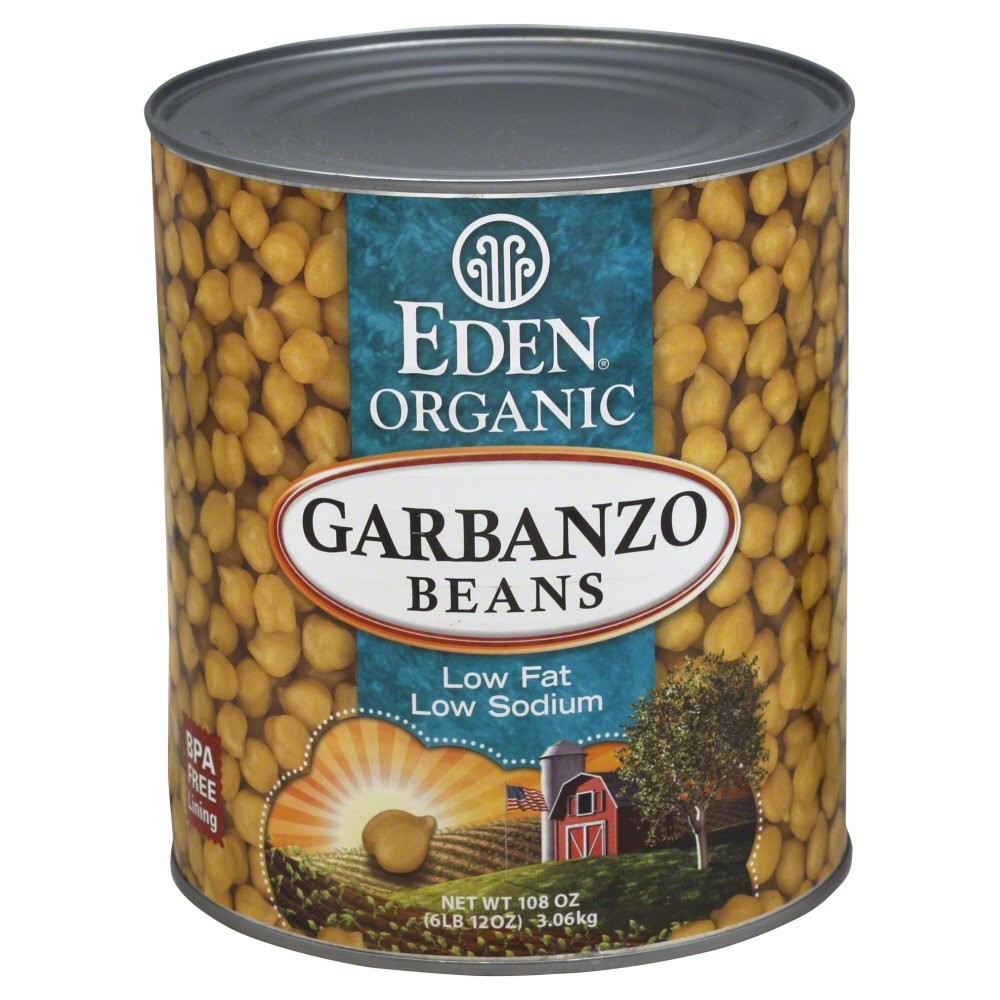 Eden Foods Organic Garbanzo Beans, 108 Oz by Eden Foods