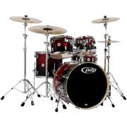 PDP by DW Concept Birch 5-Piece Shell Pack Cherry to Black Fade
