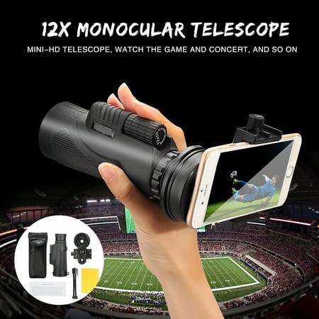 16x52 Dual Focus HD Optics Zoom Phone Monocular Telescope Waterproof Day Night Vision Binocular For Camping Hunting Hiking Bird Watching