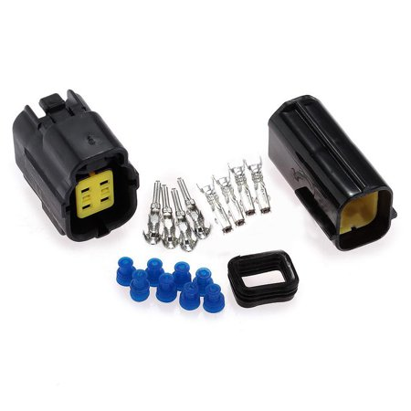 4-Pin/Way Waterproof Electrical Wire Cable Connector Set Snap-In Plug Car -
