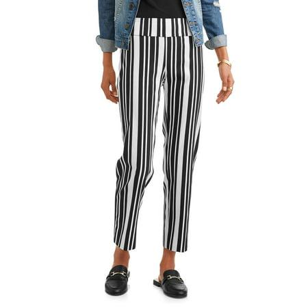 Lifestyle Attitudes Women's Woven Ankle Printed Millennium (Woven Poplin Pants)