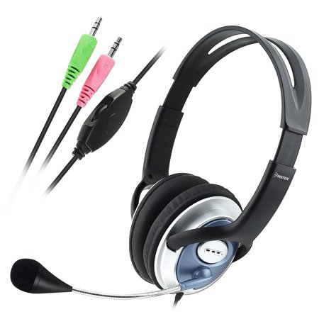 Voip Stereo Microphone Mic Headset - Insten 3.5mm Hands-free Headset Headphone with Microphone Mic for VOIP SKYPE Laptop PC Universal