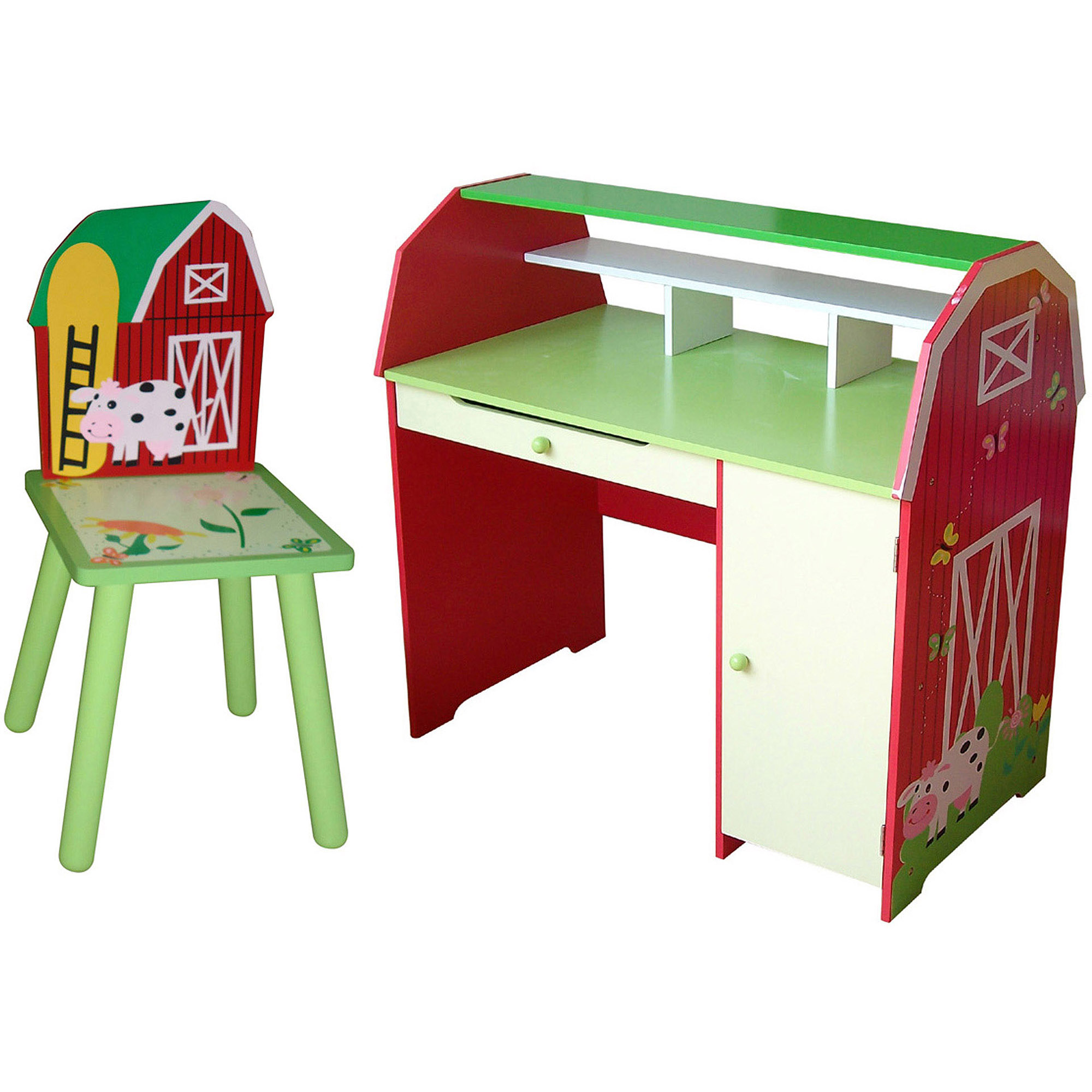 Farm Kids Desk with Chair