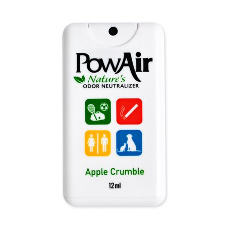 PowAir Odor Neutralizer Travel Spray Card Apple Crumble - Baked Apple Crumble