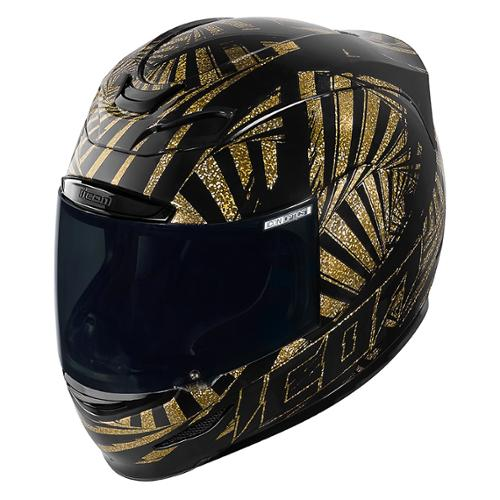 Icon Airmada Spaztyk Helmet Gold/Black XL
