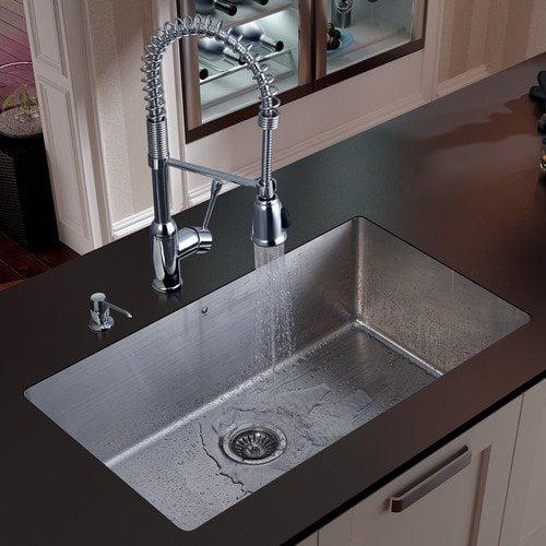 Vigo Stainless Steel Undermount Kitchen Sink and Faucet Set