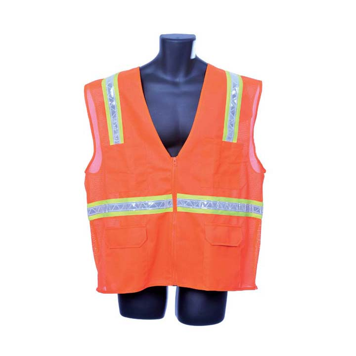 Orange Surveyor's Vest Lot of 1 Pack(s) of 1 Unit