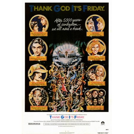 Thank God It's Friday POSTER Movie (27x40) (It's Friday And Halloween)
