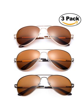 Product Image 3 Pack - Polarized Night Vision Driving Glasses Yellow Amber Lens & Day Time Driving Sunglasses