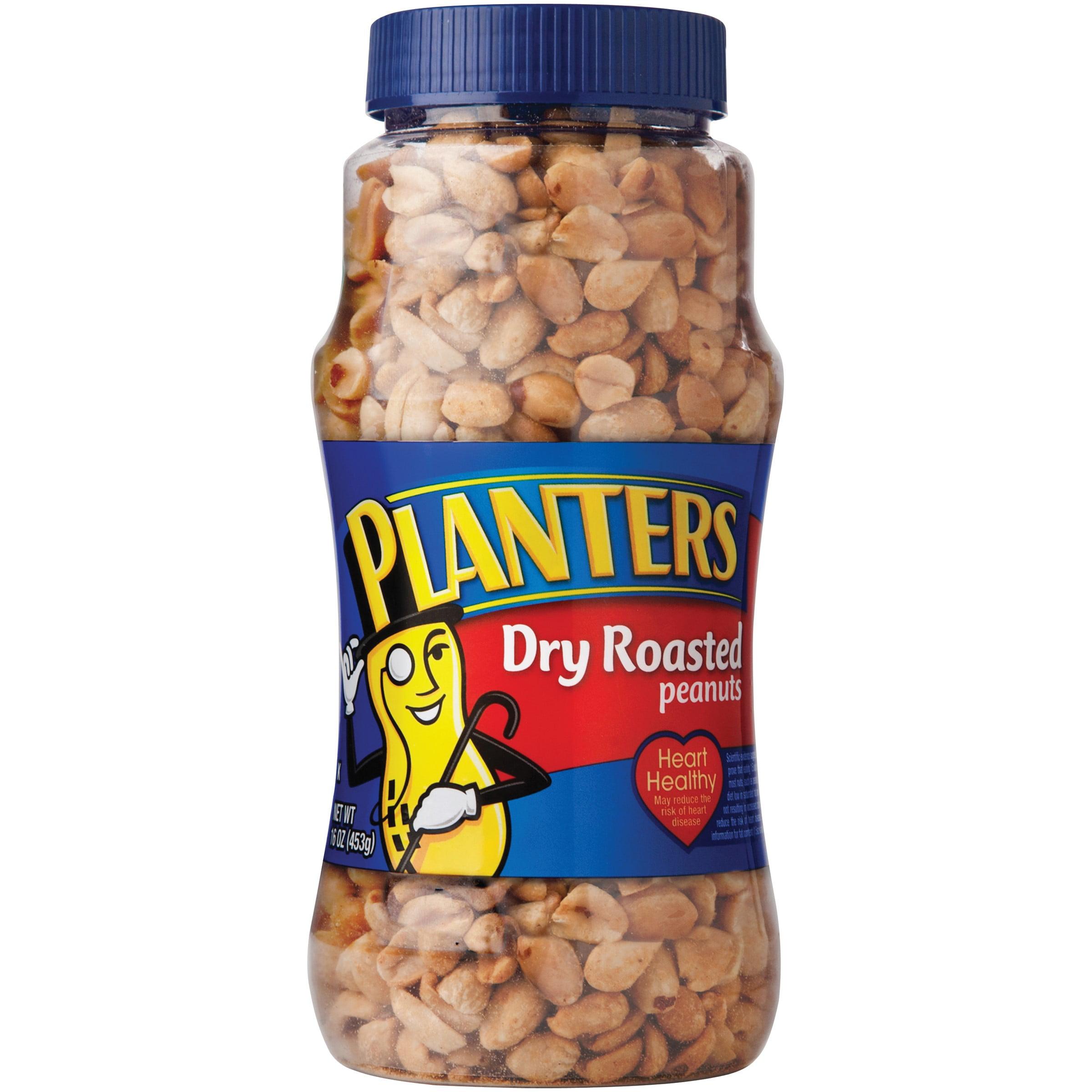 Planters Dry Roasted Peanuts, 16 Oz