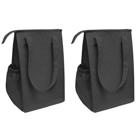 Proequip Insulated Lunch Bag Wine Cooler Tote Reusable Tall Water Bottle Carrier For S Men Women Black Pack Of 2 Price 1