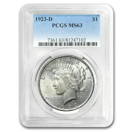 1923-D Peace Dollar MS-63 PCGS