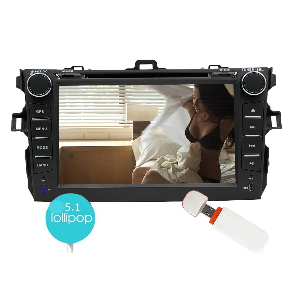 Eincar 7 inch Double 2din Car Stereo For Toyata Corolla (2007-2013) Quad-core Android 5.1 Lollipop GPS Car DVD... by EinCar