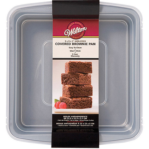 """Wilton Recipe Right 9""""x9"""" Covered Brownie Pan 2105-9199"""