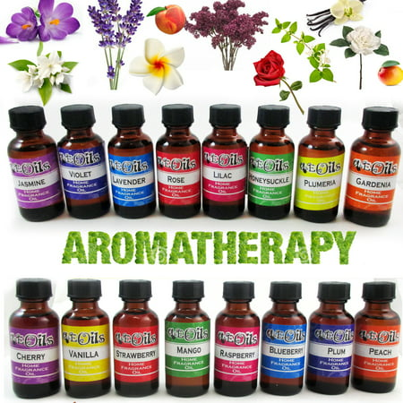 16 Bottles Aroma Therapy Oils Fruit Floral Scent Set Spa Home Fragrance Air (Quality Scented Fragrance Oil)