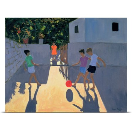 Great Big Canvas Andrew Macara Poster Print Entitled Footballers  Kos  1993