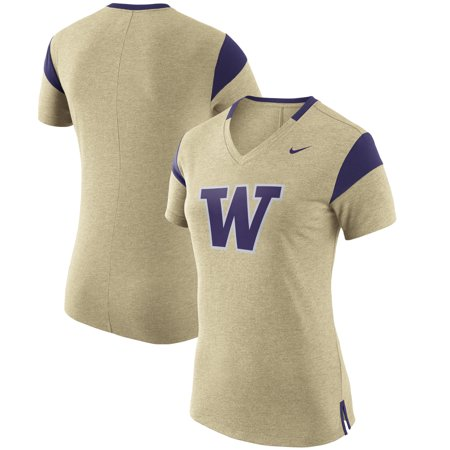 Washington Huskies Nike Women's Fan V-Neck T-Shirt - Gold Washington Huskies Fan