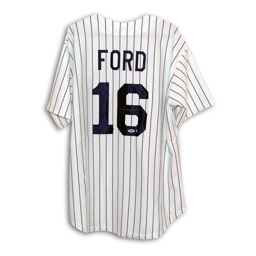 MLB - Whitey Ford New York Yankees Autographed Throwback Pinstripe Jersey