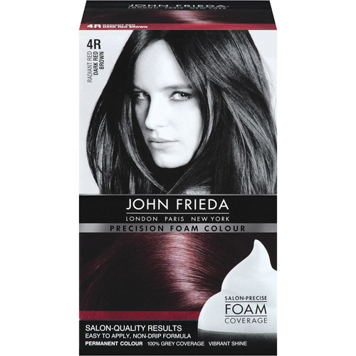 John Frieda Radiant Red 4r Dark Red Brown Precision Foam