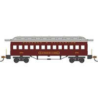 Bachmann-1860 - 1880 Wood Coach - Ready to Run - Silver Series(R) -- Durango & S