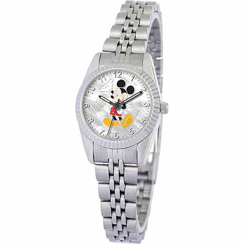 Disney Mickey Mouse Women's Watch, Silver Bracelet