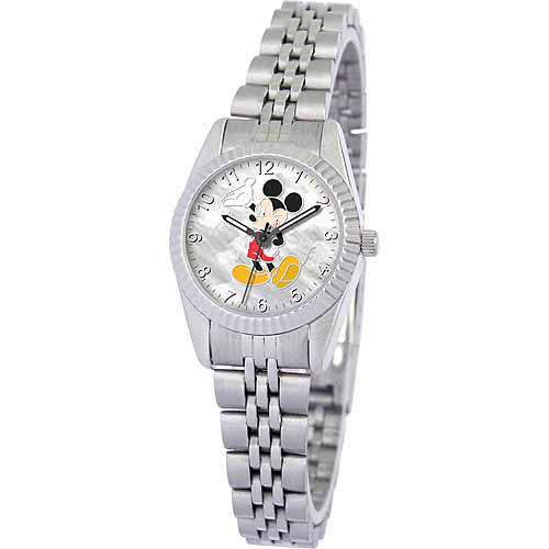 Disney Mickey Mouse Women's Watch, Silver Bracelet