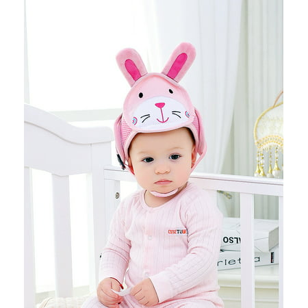 Cartoon Head Protection Baby Baby Hat Cap Child Fall Accident Break-Resistant Safety Helmets for Children Head Cap Walking Assistant(Breathable (The Hut Store)
