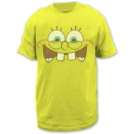Sponge Bob Excited Face Adult T-shirt (Spongebob Shirts For Adults)