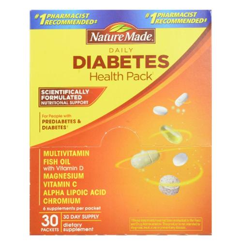 Nature Made Daily Diabetes Health Pack 30 Each (Pack of 6)