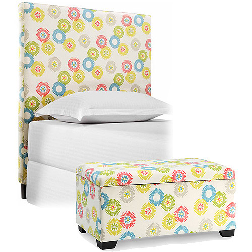 Sophia Collection by Waverly Wheels N Motion Full/Queen Headboard and Matching Storage Trunk
