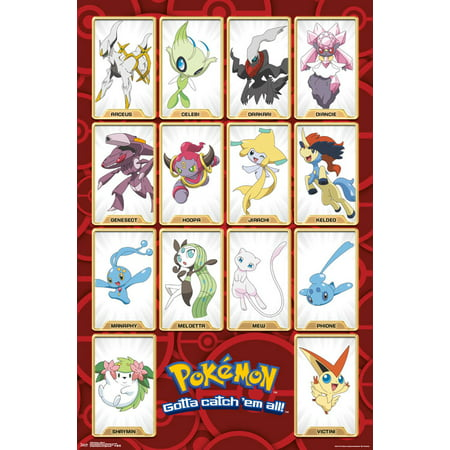 Trends International Pokemon Mythical Wall Poster 22.375
