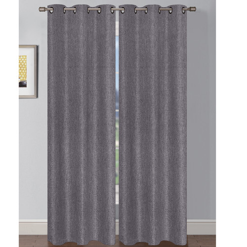 Window Elements Oscar Solid Sheer Grommet Curtain Panels (Set of 2)