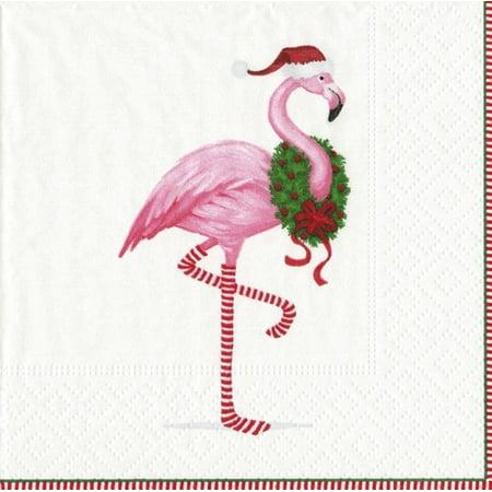 Paper Cocktail Napkins 20pk 13360C Christmas Flamingo - Fiestaware Flamingo