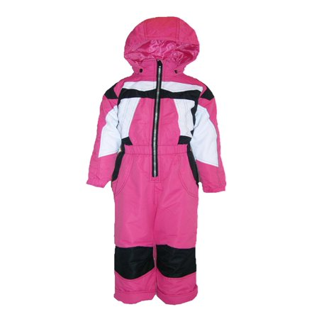 6d9b0b870f84 Pulse Toddler Girls One Piece Snowsuit Coveralls Insulated 2T 3T 4T ...