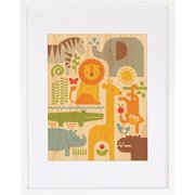 Petit Collage Safari Parade, Small Framed Art