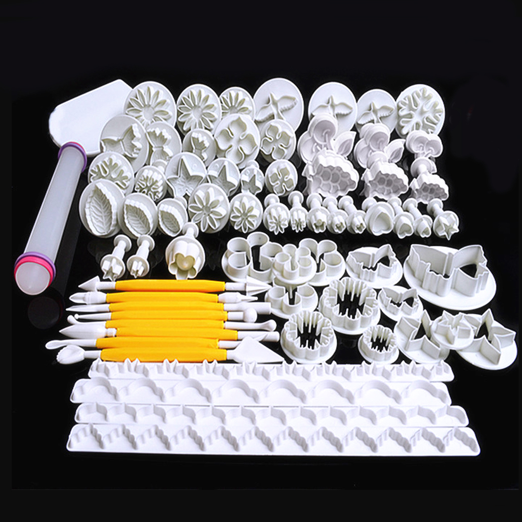 Click here to buy 68Pcs Baking DIY Mould Set Sugarcraft Cake Decorating Fondant Plunger Cutters Tools Mold for Cookies Biscuits Chocolate by Calves LTD.