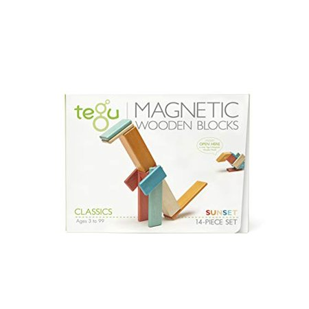 14 Piece Tegu Magnetic Wooden Block Set, Sunset - image 1 of 16