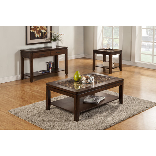 Bundle-82 Alpine Furniture Granada Coffee Table Set (4 Pieces)